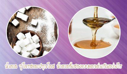 น้ำตาล ซูโครสและฟรุกโตส น้ำตาลทั้งสองแบบแตกต่างกันอย่างไร