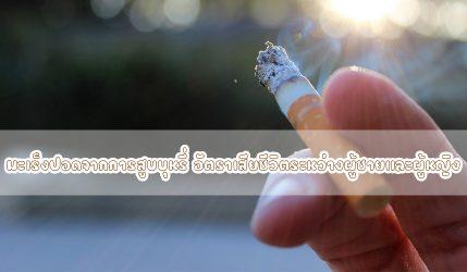 มะเร็งปอด อัตราการเสียชีวิตจากการสูบบุหรี่ ระหว่างผู้ชายและผู้หญิง